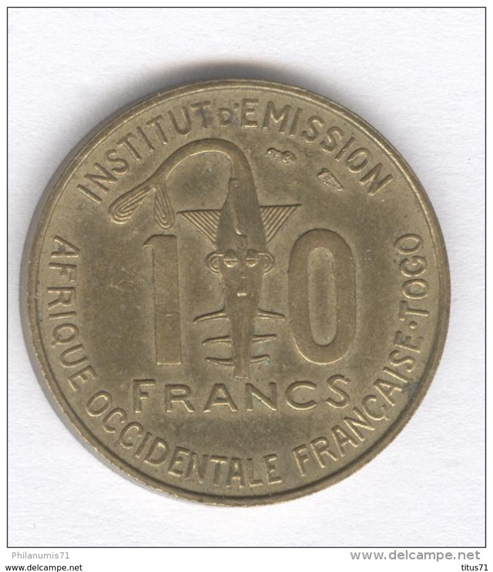 10 Francs AOF Togo 1957 - Togo