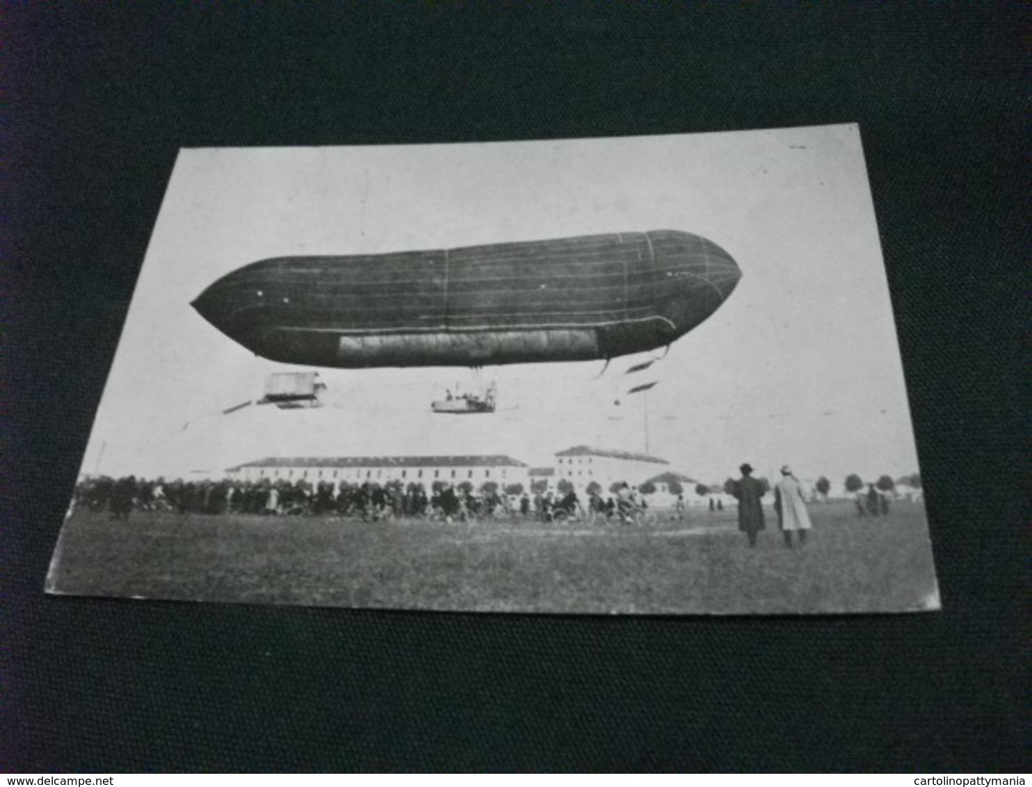 DIRIGIBILE USUELLI 1909 TIPO FLOSCIO LUNGO 51 METRI CICLISTI - Dirigibili