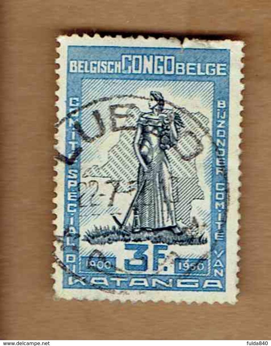 Congo Belge.(COB-OBP)  1950 - N°298    *CINQUANTENAIRE DU COMITE SPECIAL DU KATANGA*    3F   Oblitéré LUEBO - Congo Belge