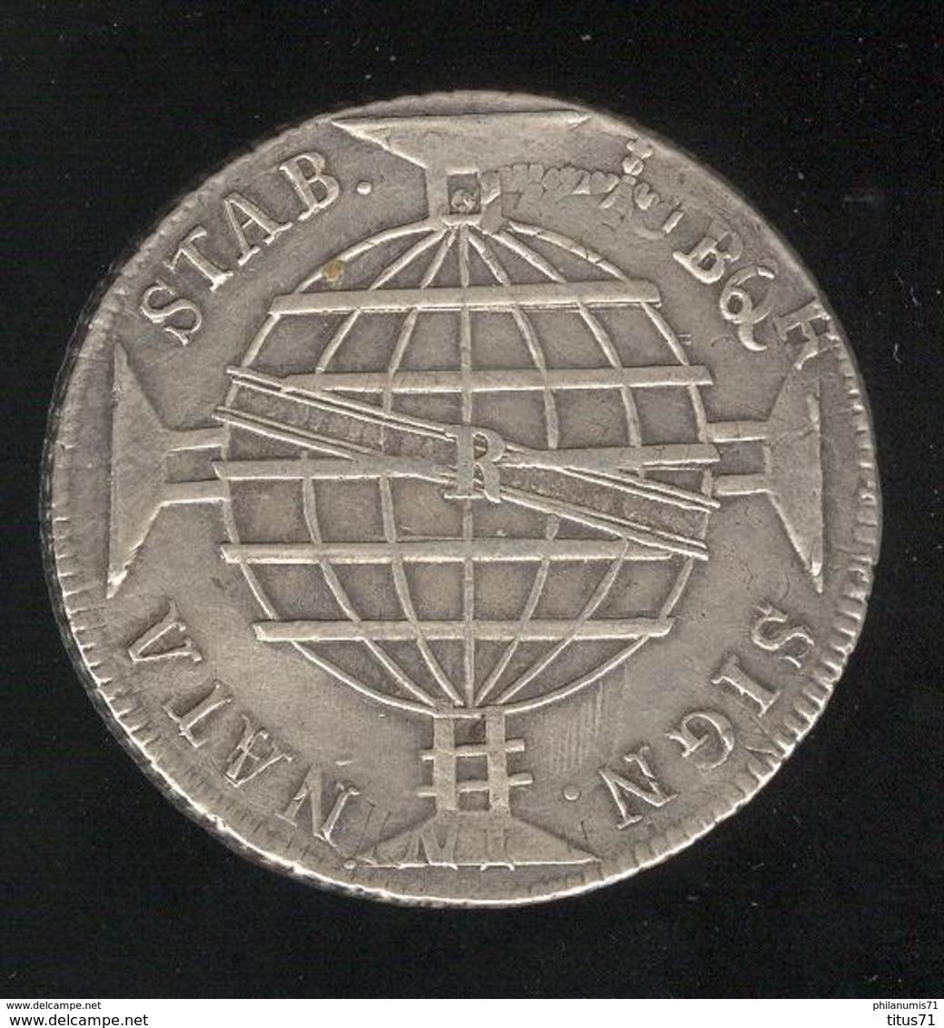 960 Réis Brésil / Brasil 1814 R - TTB - Refrappée Sur Une Monnaie Coloniale Espagnole / Restrike On A Spanish Coin - Brésil