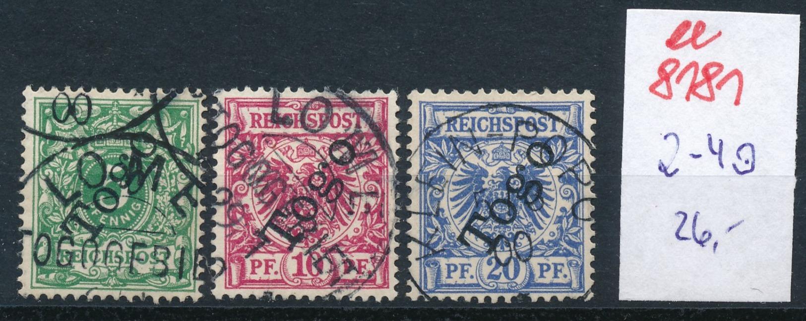 Togo Nr.  2-4  O     (ee8181  ) Siehe Scan - Colony: Togo