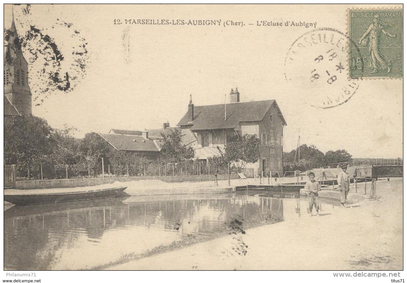 CPA - Marseille Les Aubigny - Ecluse D'Aubigny -  Circulé 1918 - Autres Communes