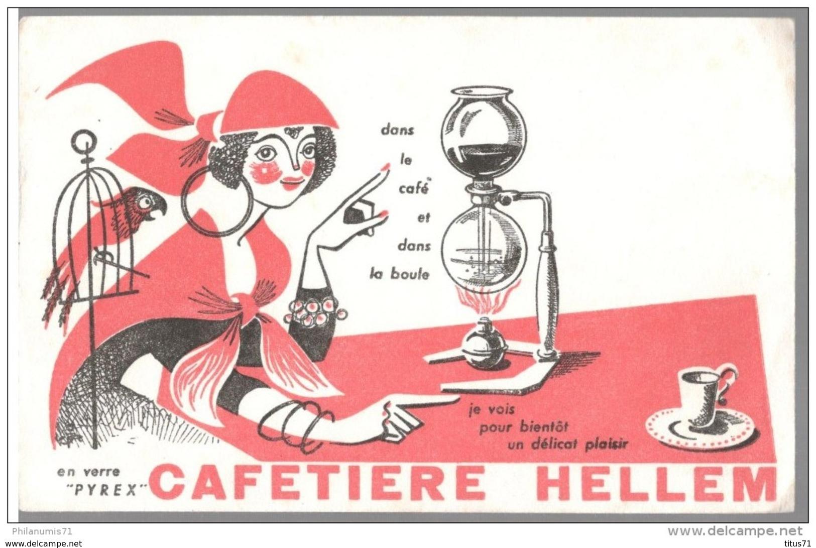 Buvard Cafetière Hellem - Très Bon état - Buvards, Protège-cahiers Illustrés