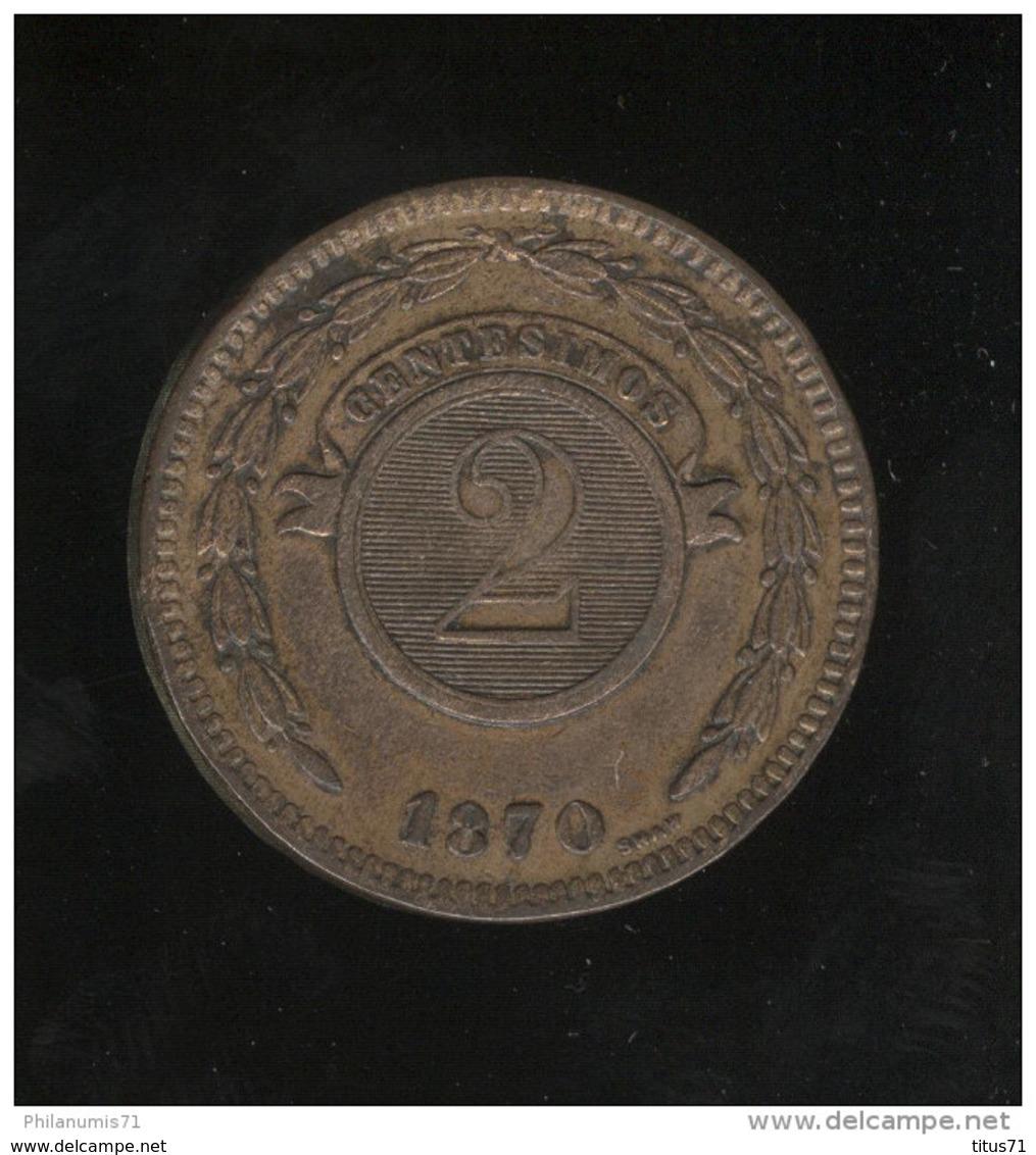 2 Centesimos Paraguay 1870 TTB - Paraguay