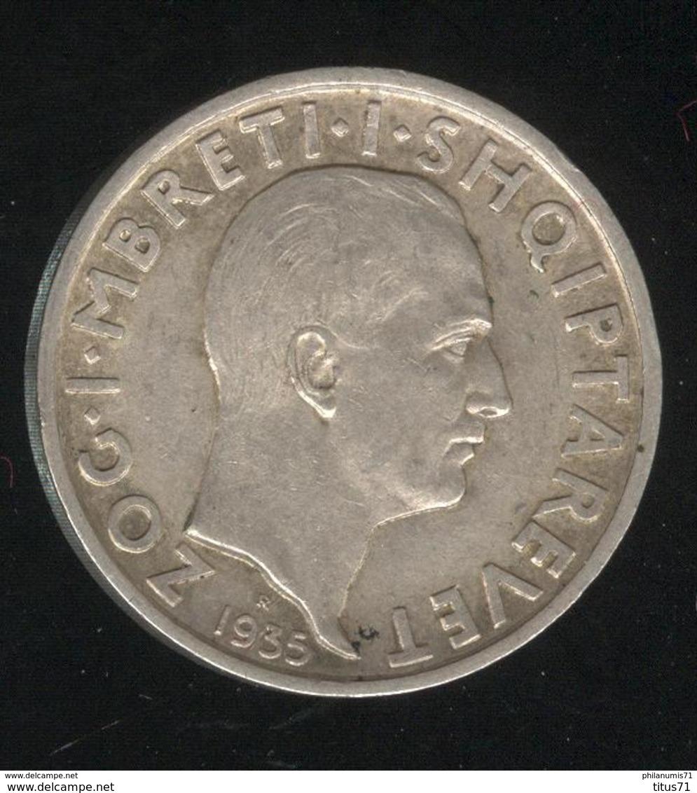 1 Frang Albanie 1935R - TTB - Albanie