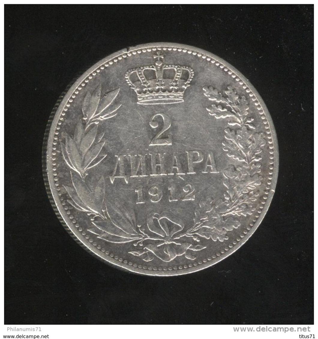 2 Dinars Serbie 1912 - Milan 1er - TTB - Serbie
