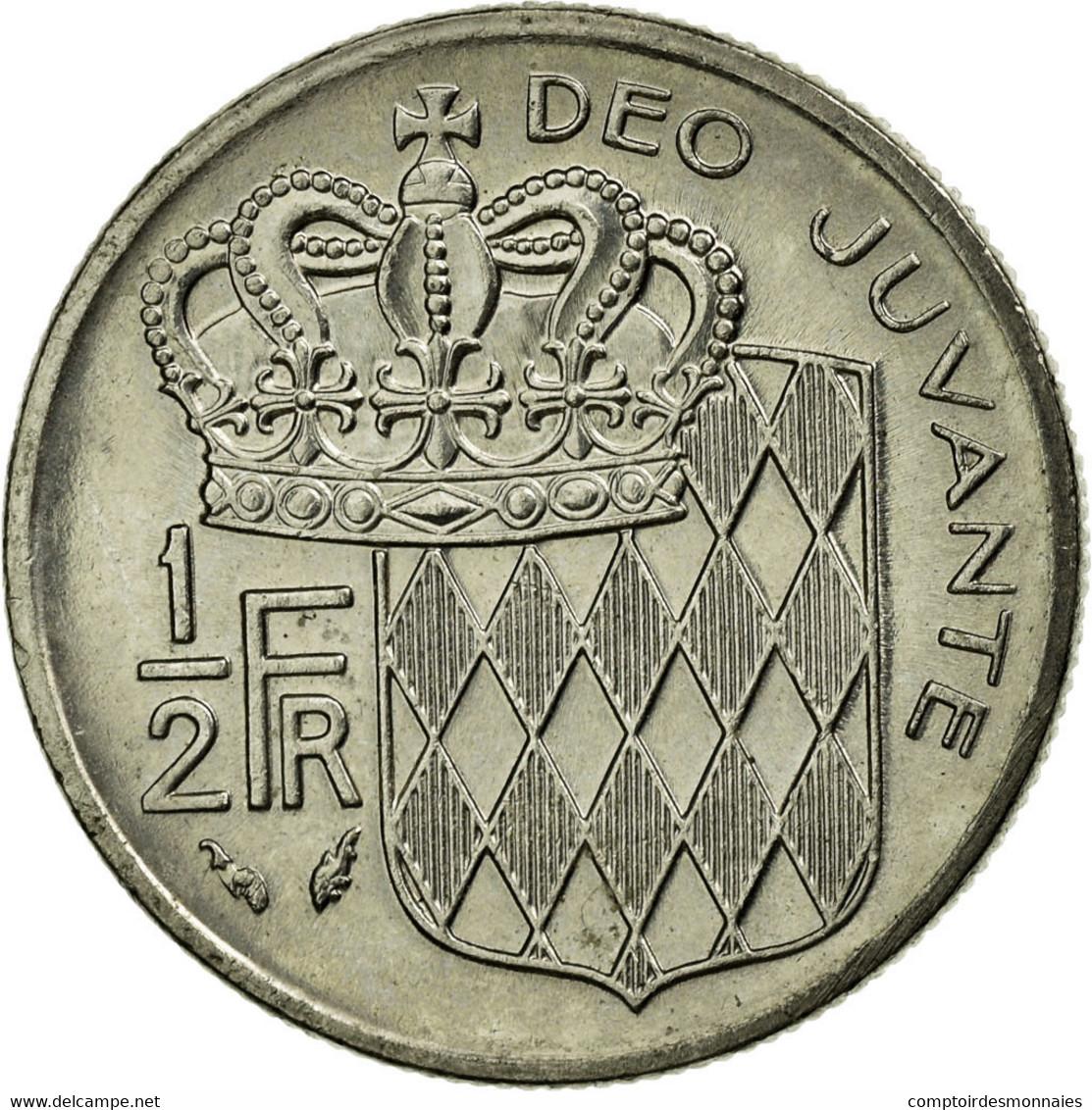Monnaie, Monaco, Rainier III, 1/2 Franc, 1979, TTB, Nickel, Gadoury:MC 149 - 1960-2001 Nouveaux Francs