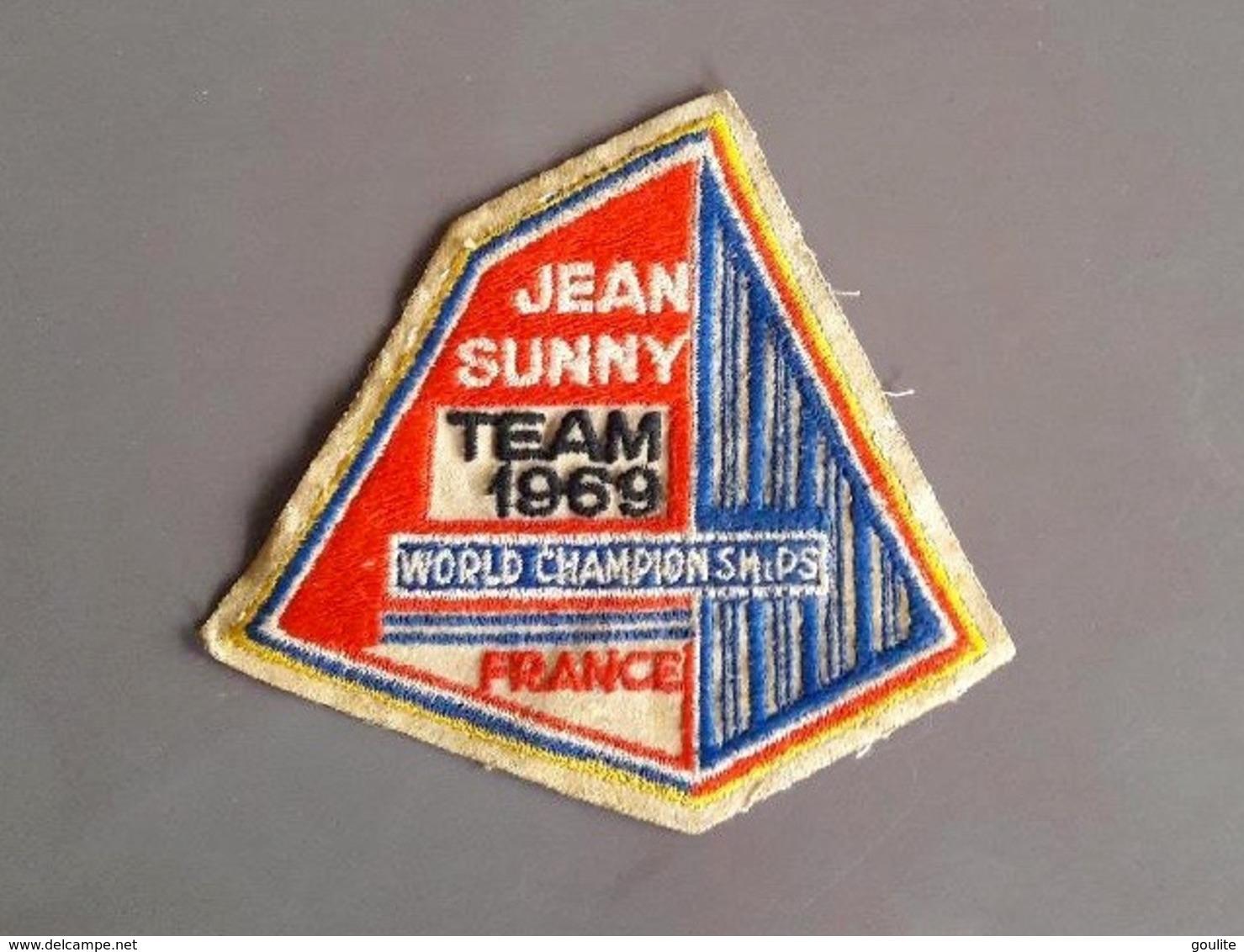 Ecusson Jean Sunny  - Team 1969 - Pilote Cascade - Ecussons Tissu