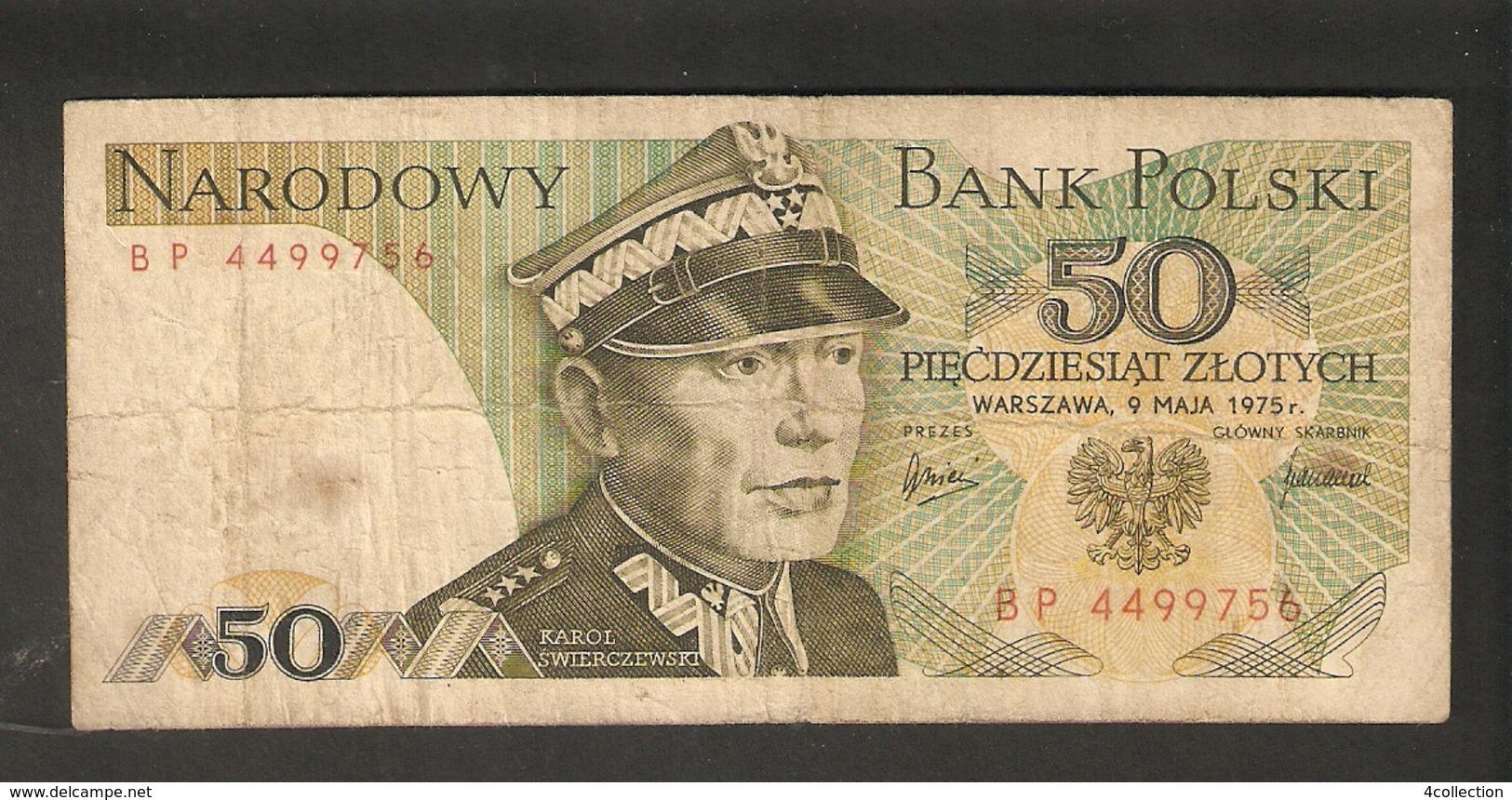 T.  Poland Narodowy Bank Polski 50 Zlotych 1975 BP 4499756 Karol Swierczewski - Poland