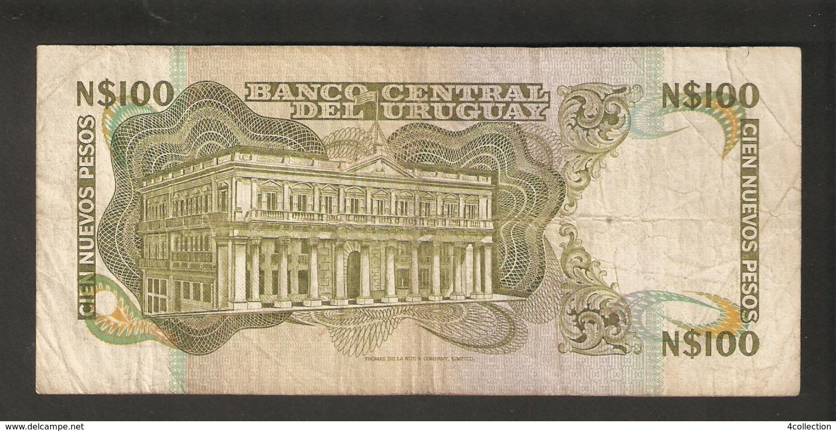 T.  URUGUAY N$100 Cien Nuevos Pesos 1987 Ser. G  13391002 - Uruguay