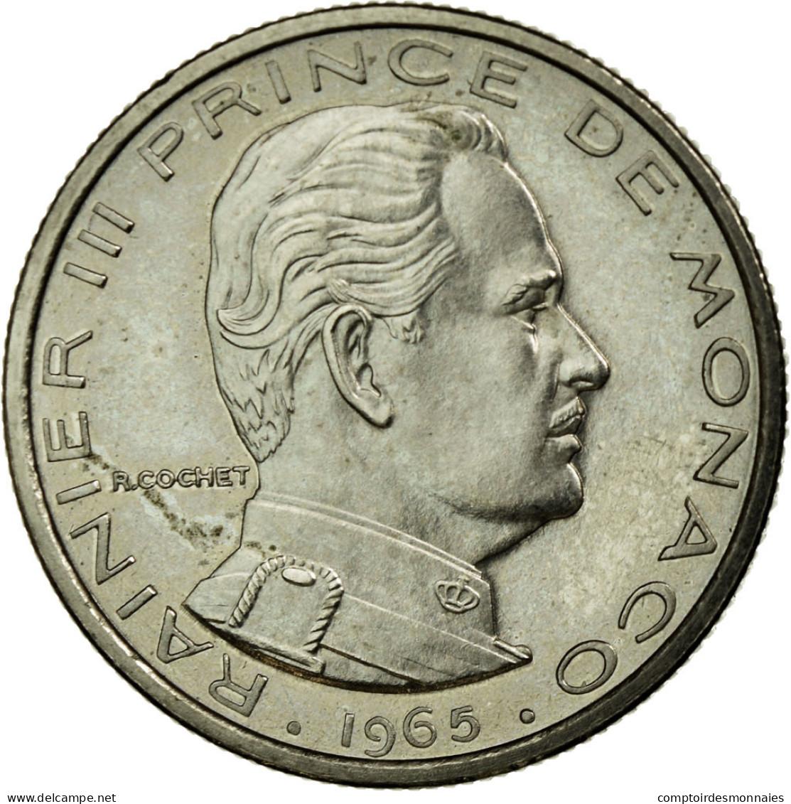 Monnaie, Monaco, Rainier III, 1/2 Franc, 1965, Paris, ESSAI, SPL, Nickel, KM:E52 - Monaco