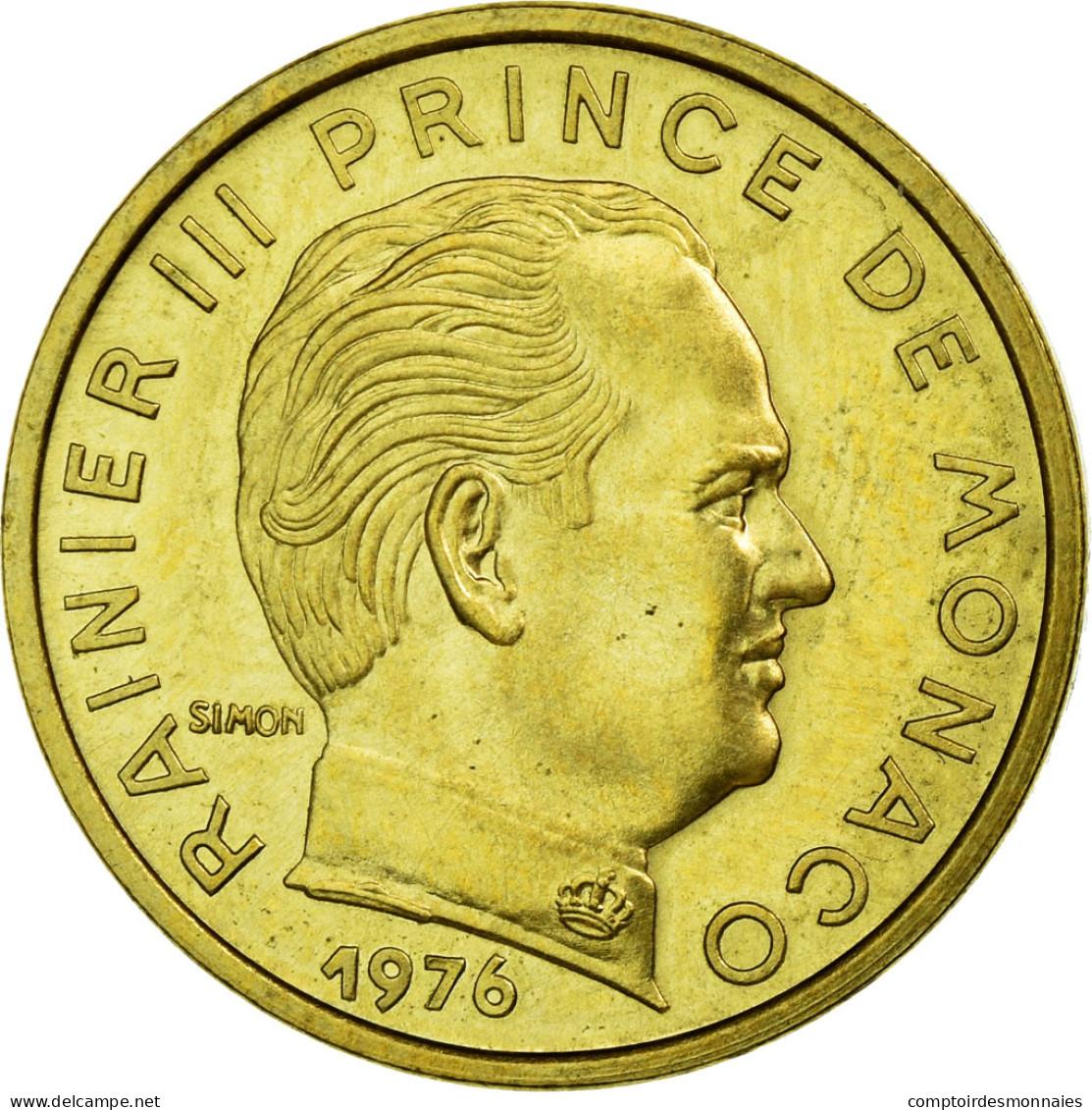 Monnaie, Monaco, Rainier III, 5 Centimes, 1976, Paris, ESSAI, SPL - 1960-2001 Nouveaux Francs