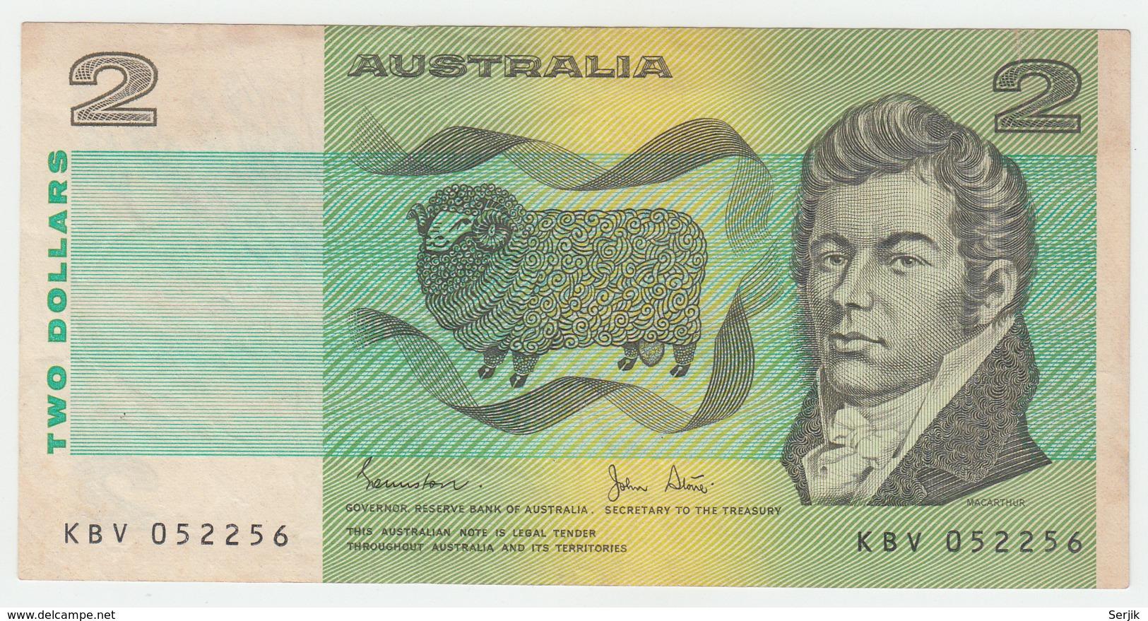 Australia 2 Dollar 1983 VF++ CRISP Banknote Pick 43d 43 D - 1974-94 Australia Reserve Bank