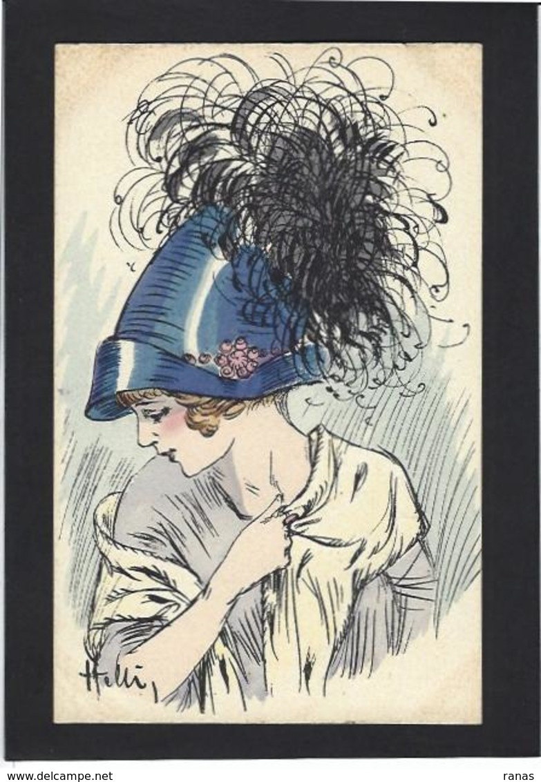 CPA Helli Chapeau Mode Femme Girl Women Non Circulé Glamour éditions Artistiques 144 Type Sager Roberty - Mode
