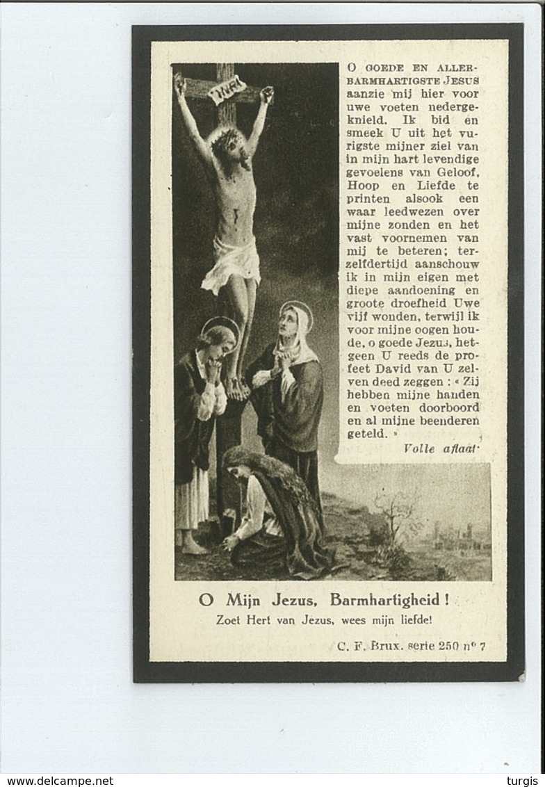 STEPHANIE STAELENS ECHTG THEOFIEL DE BOOS ° ERTVELDE ( EVERGEM ) 1873 + GENT 1929 - Devotion Images
