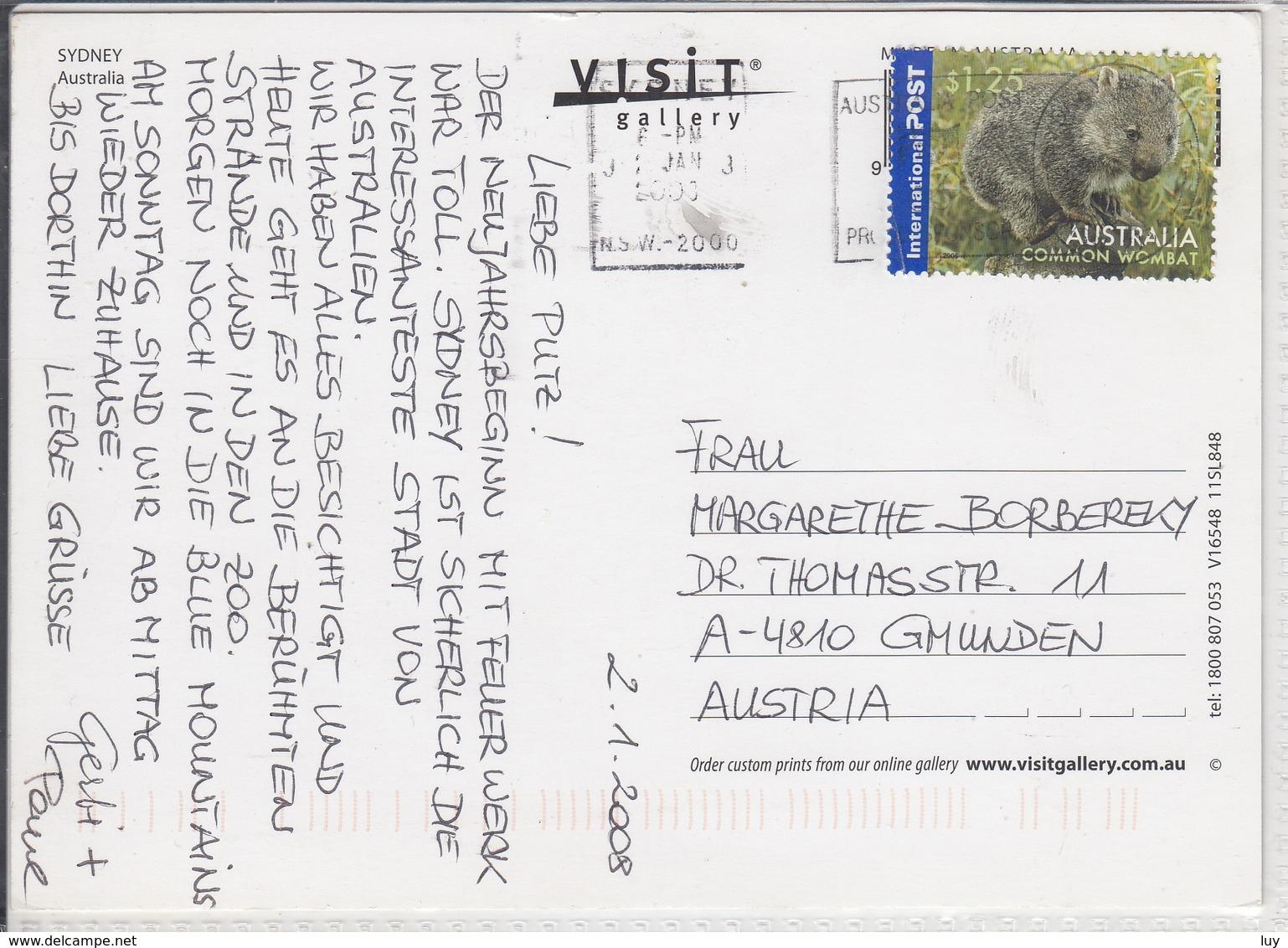 SYDNEY  AUSTRALIA  MULTI VIEW  USED  NICE STAMP WITH COMMON WOMBAT - Sydney