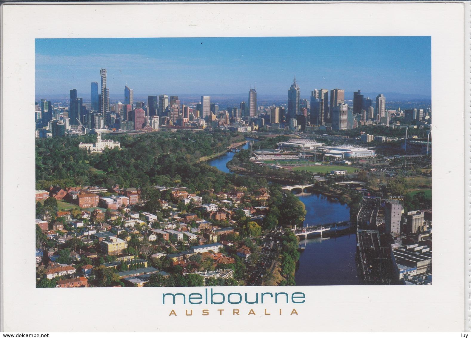 MELBOURNE AUSTRALIA  YARRA RIVER AND CITY SKYLINE  USED NICE STAMP - Melbourne