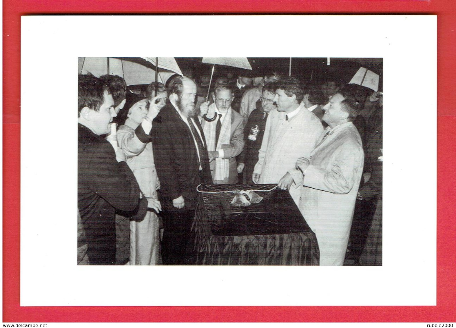 LES LUCS SUR BOULOGNE 1993 PHILIPPE DE VILLIERS ET SOLJENITSYNE A L INAUGURATION DU MEMORIAL DES MORTS DE 1793 - Les Lucs Sur Boulogne