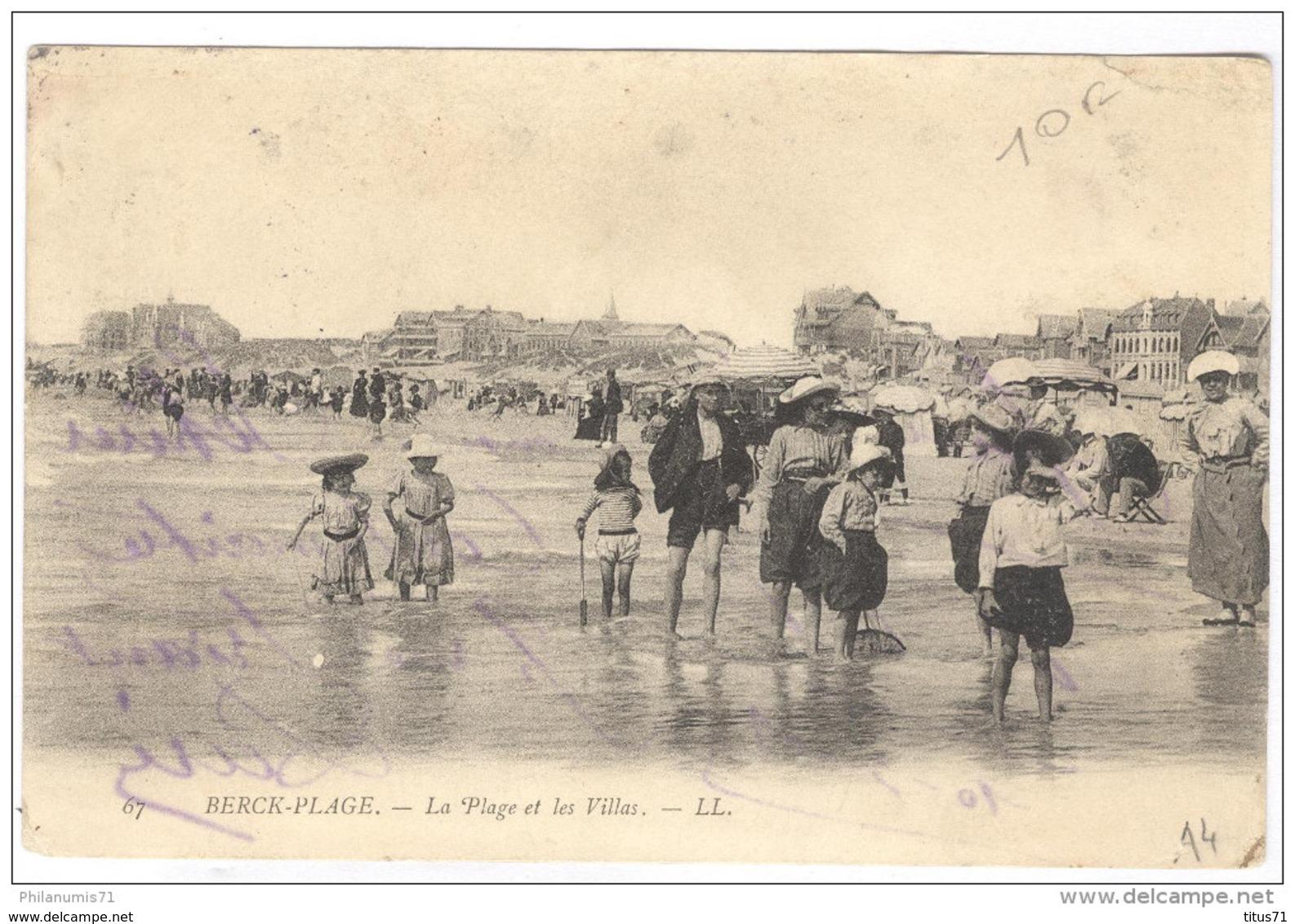 CPA Berck Plage - La Plage Et Les Villas - Circulée En 1905 - Berck