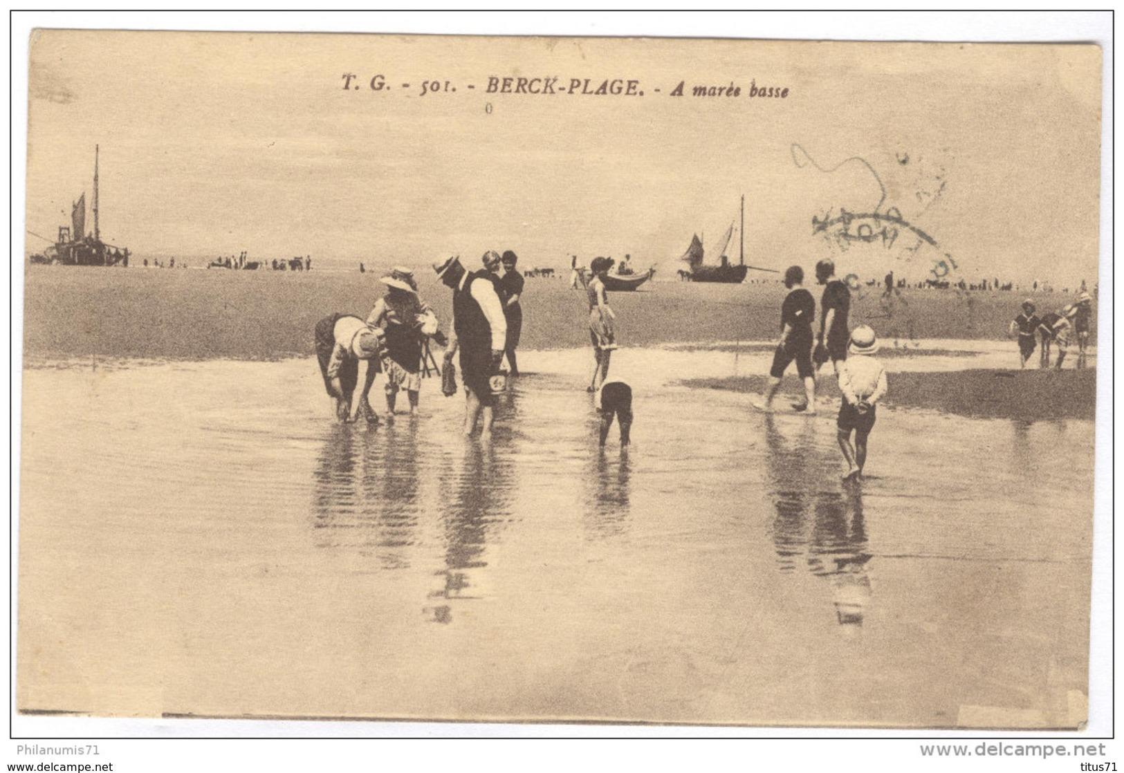 CPA Berck Plage - A Marée Basse - Circulée - Berck