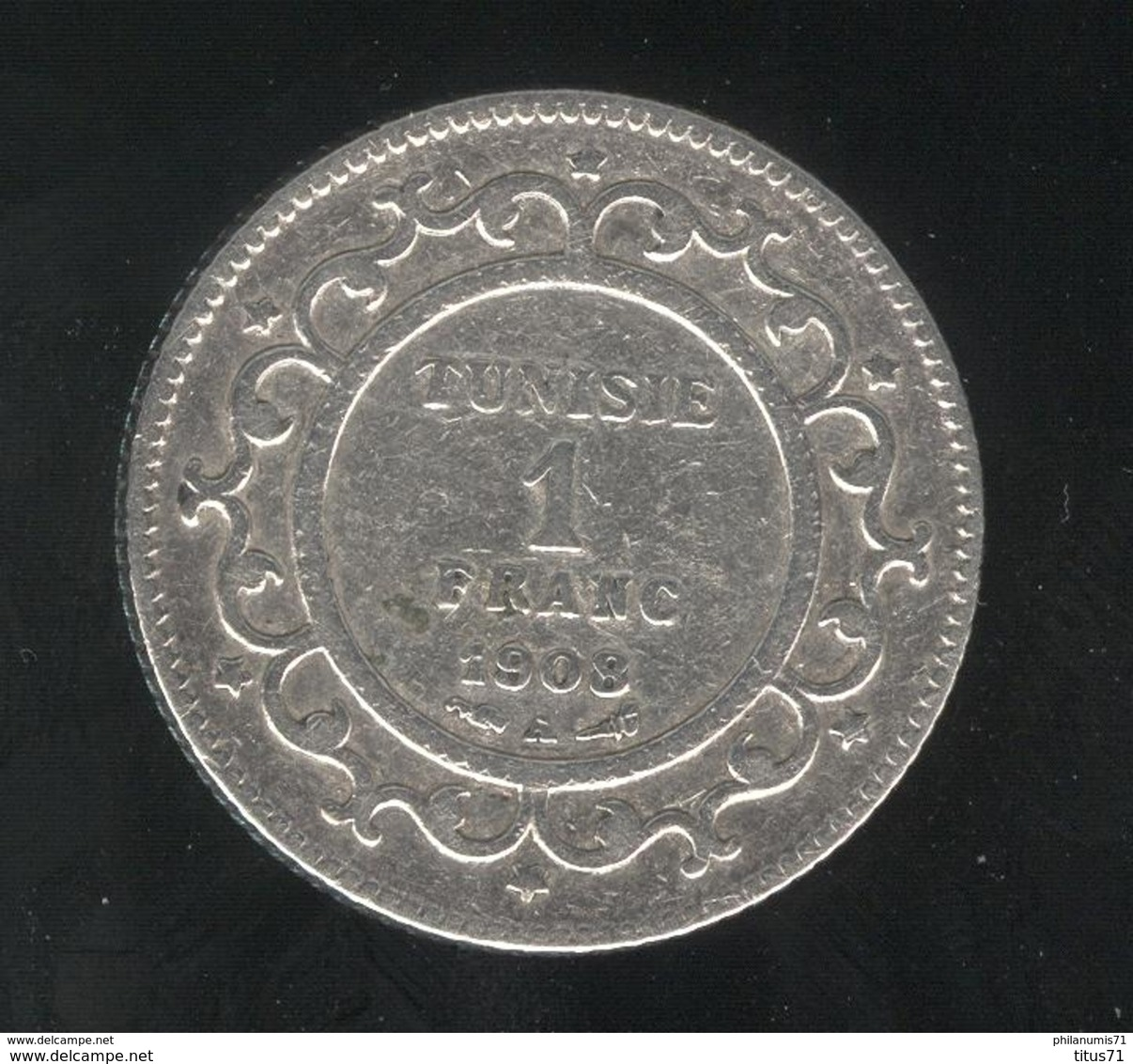1 Franc Tunisie 1908 A - TTB - Tunisie