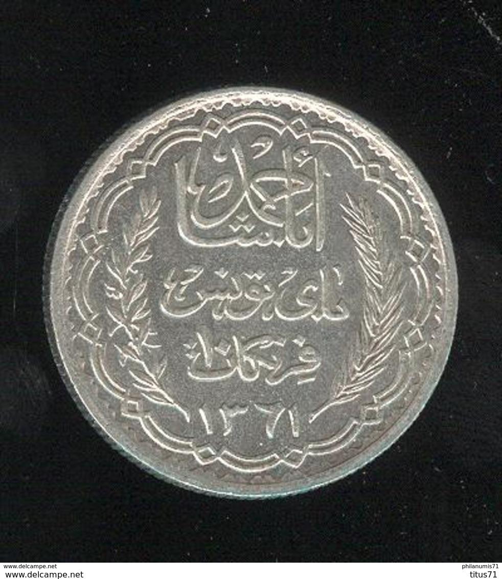 10 Francs Tunisie Ahmad Pasha 1942 - Protectorat Français - SUP - Mintage 1103 Coin ! - Tunisie