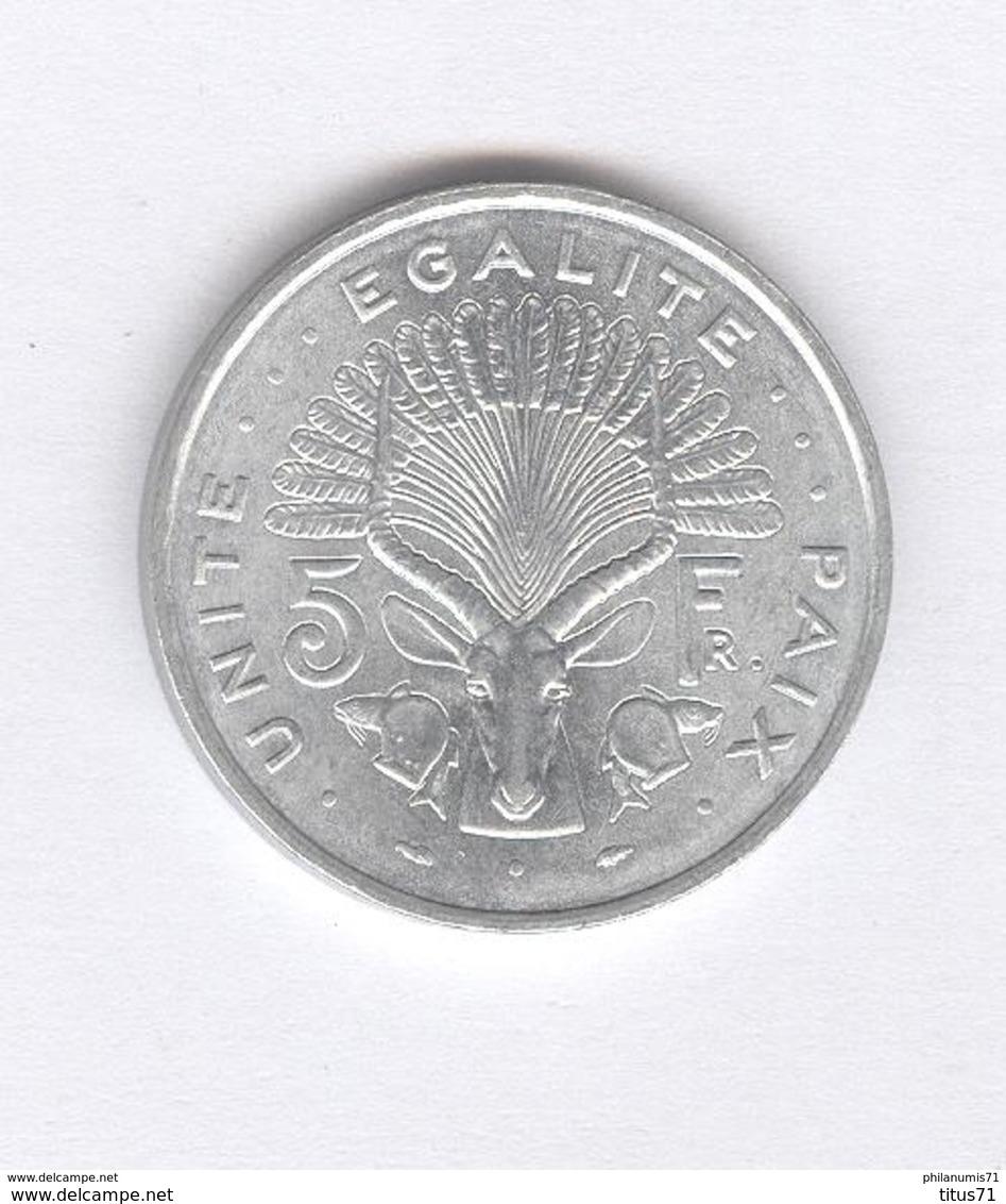 5 Francs Djibouti 1977 - SUP - Djibouti