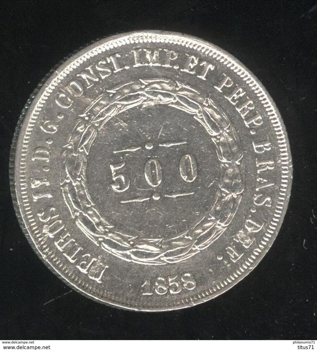 500 Réis Brésil / Brasil 1858 - TTB+ - Brésil