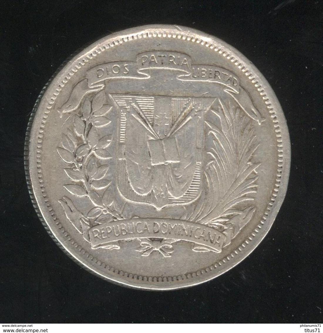 1/2 Peso - Medio Peso République Dominicaine 1937 - TTB+ - Dominicaine