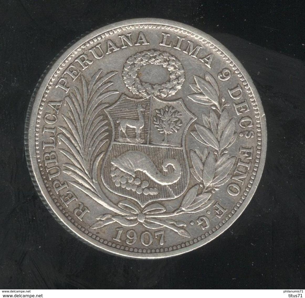 1/2 Sol Pérou / Peru 1907 - Pérou