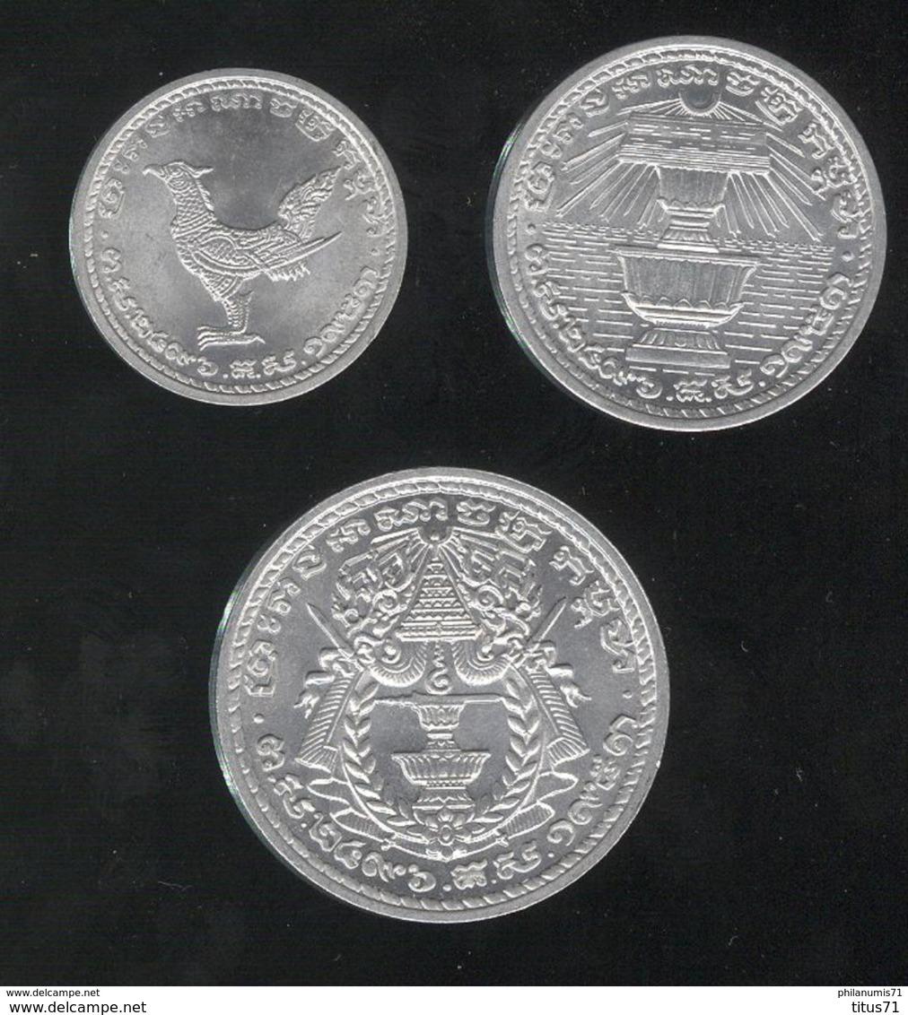 Lot 10 , 20 , 50 Sen Cambodge 1959 Norodom Suramarit - SPL - Cambodge