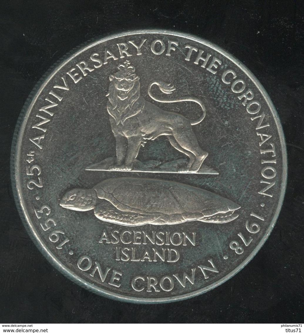 1 Crown Ile De L'Ascension / Ascension Island - CC Coronation 1978 - Ascension (Insel)