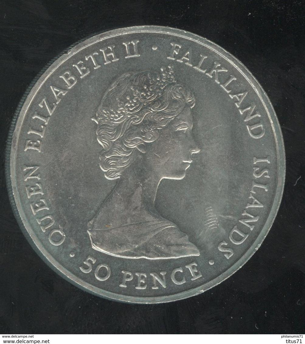 50 Pence Falkland Islands / Iles Malouines - CC Wedding 1981 - Monnaies