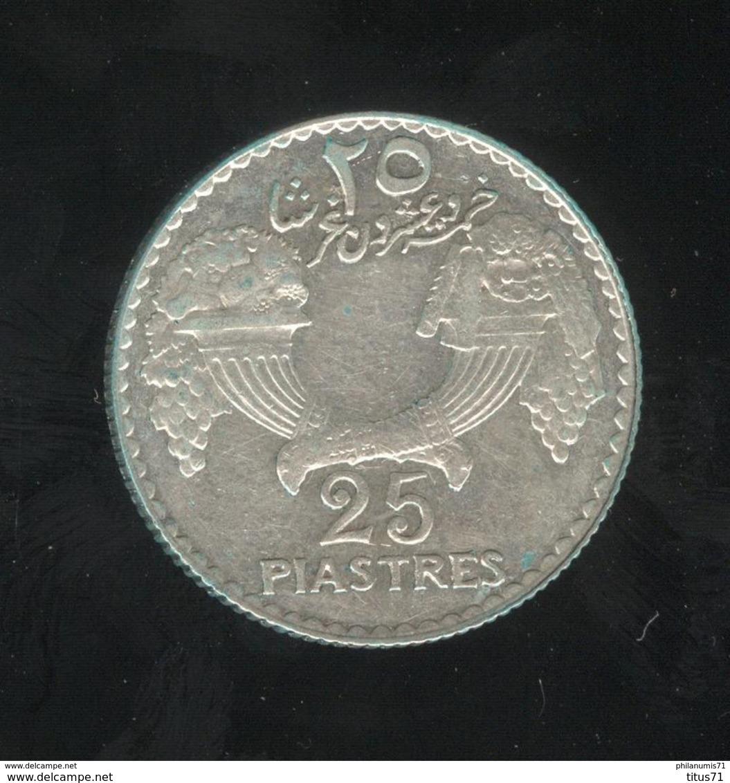 25 Piastres Liban / Lebanon 1936 TTB+ - Liban