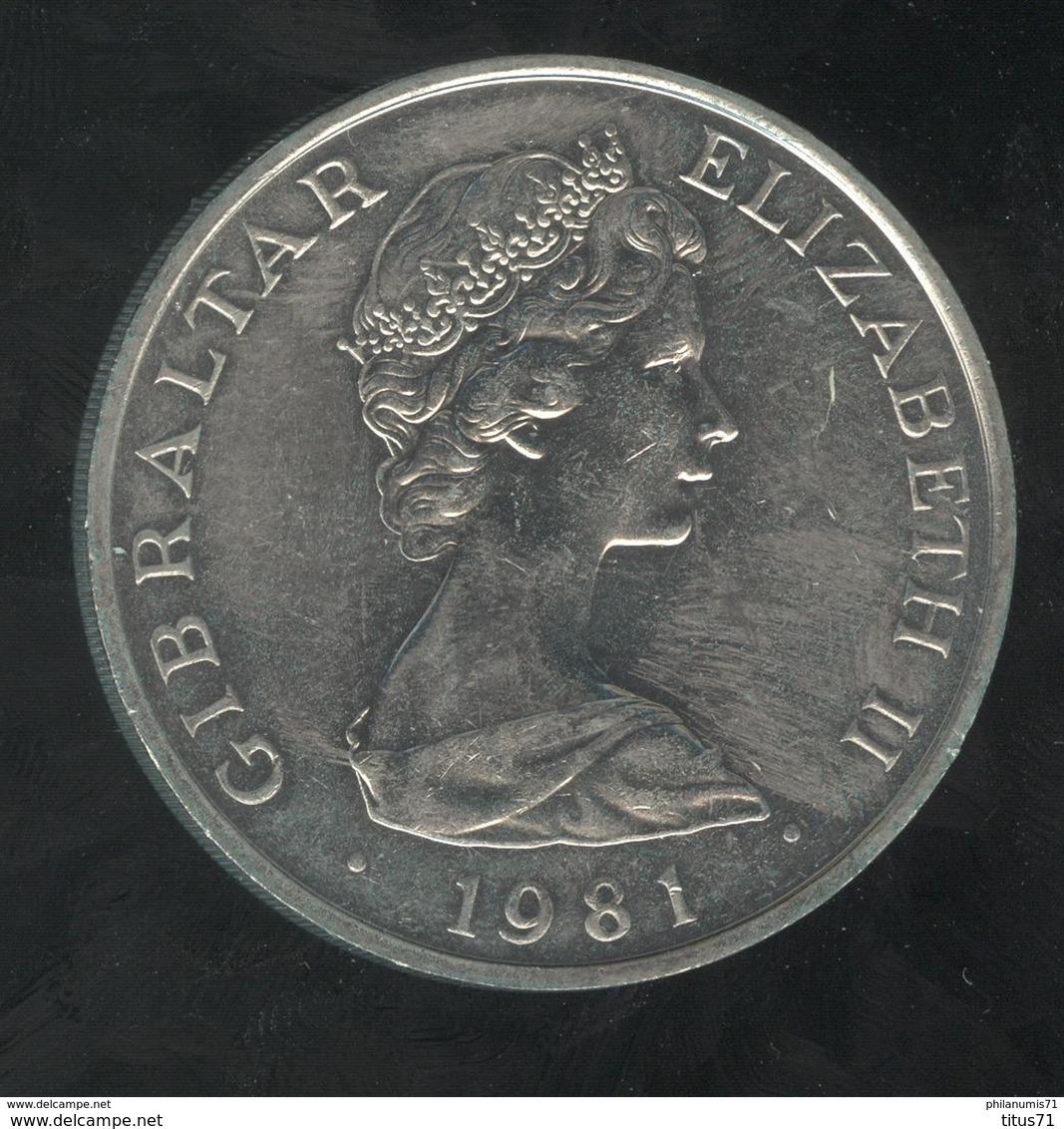 1 Crown Gibraltar 1981 - Gibraltar