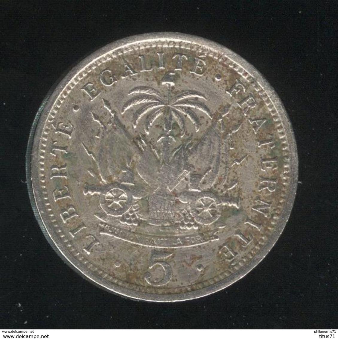 5 Centimes Haïti 1901 TTB - Haïti