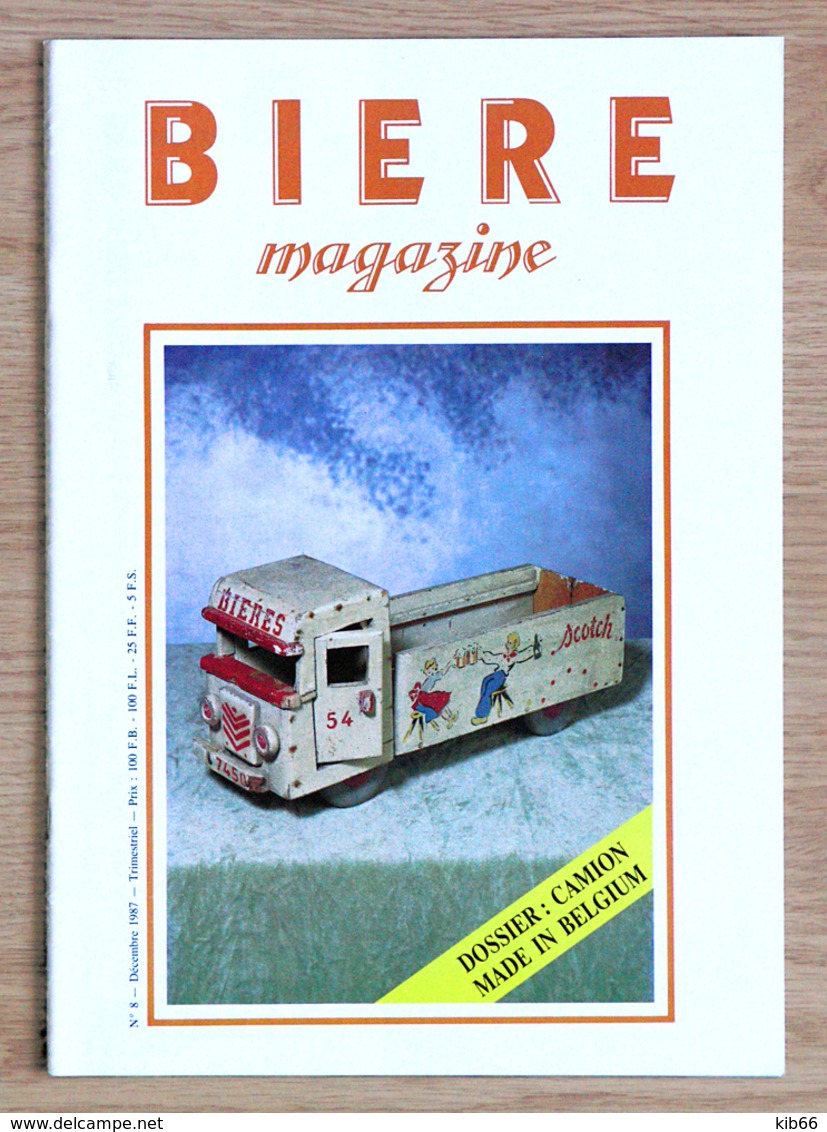 """Magazine Trimestriel """"BIÈRE MAGAZINE"""" N°8 - 1987, Édité En Belgique. - Brocantes & Collections"""
