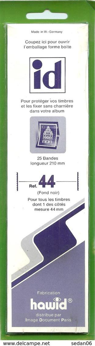 I.D. - Bandes 210x44 Fond Noir (double Soudure) - Bandes Cristal
