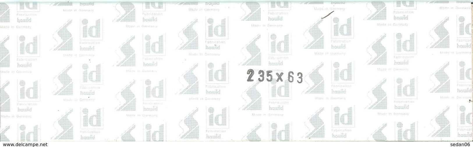 I.D. - Bandes 235x63 Fond Noir (double Soudure) - Bandes Cristal