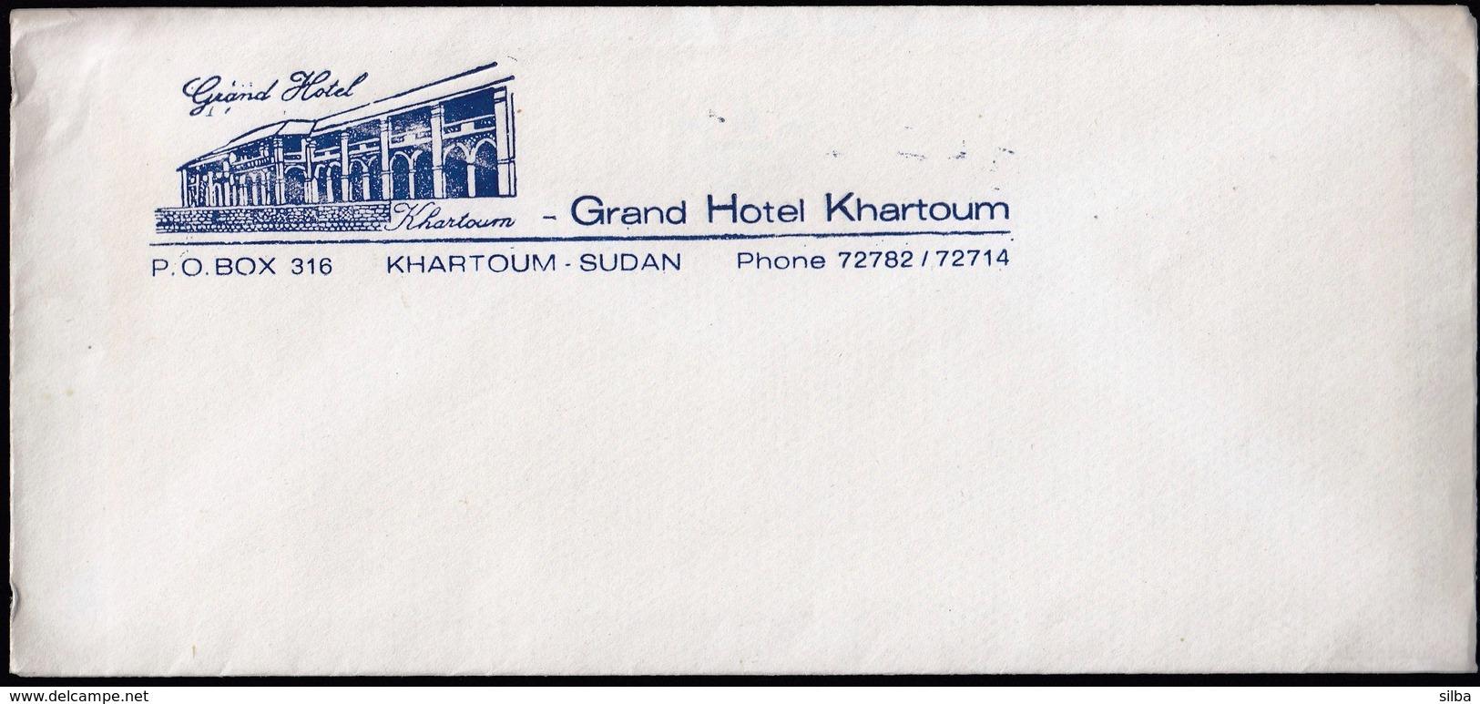 Hotel / Grand Hotel / Khartoum, Sudan / Cover, Envelope - Hôtellerie - Horeca