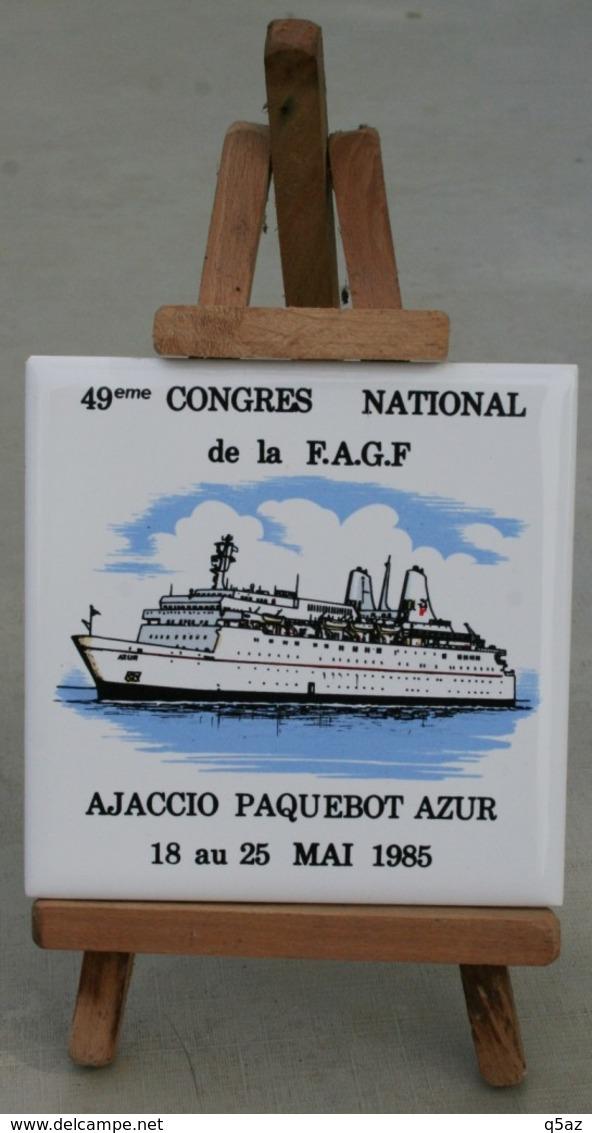 De1.q- Paquebot AZUR CNP NCP Compagnie Navigation PAQUET Marseille France FAGF EAGLE - Autres