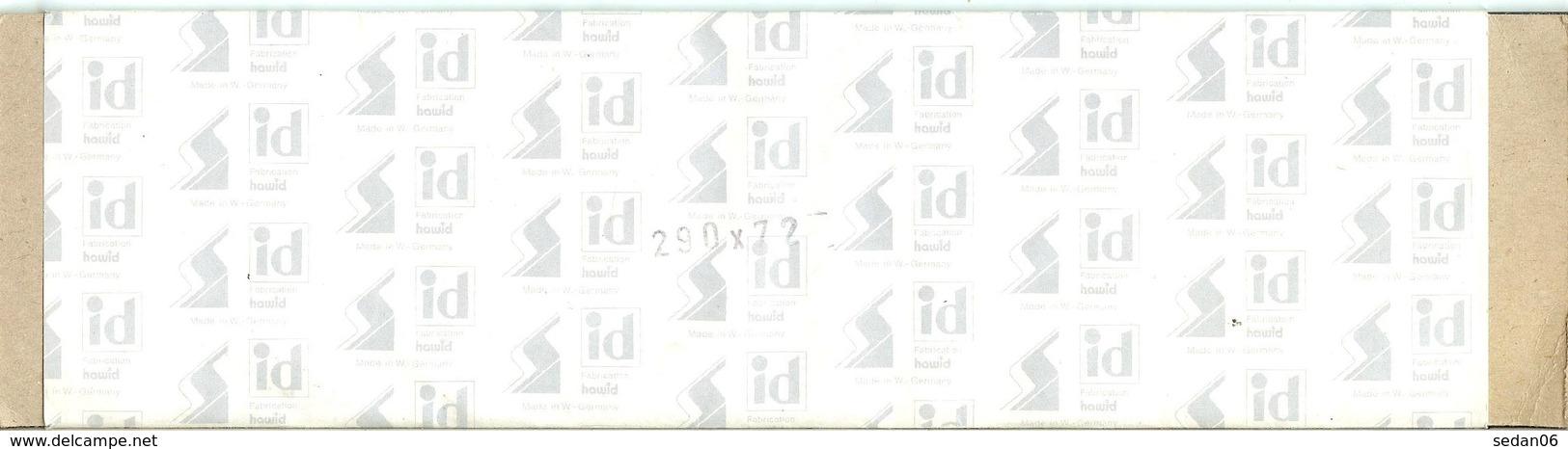I.D. - Bandes 290x72 Fond Noir (double Soudure) - Bandes Cristal