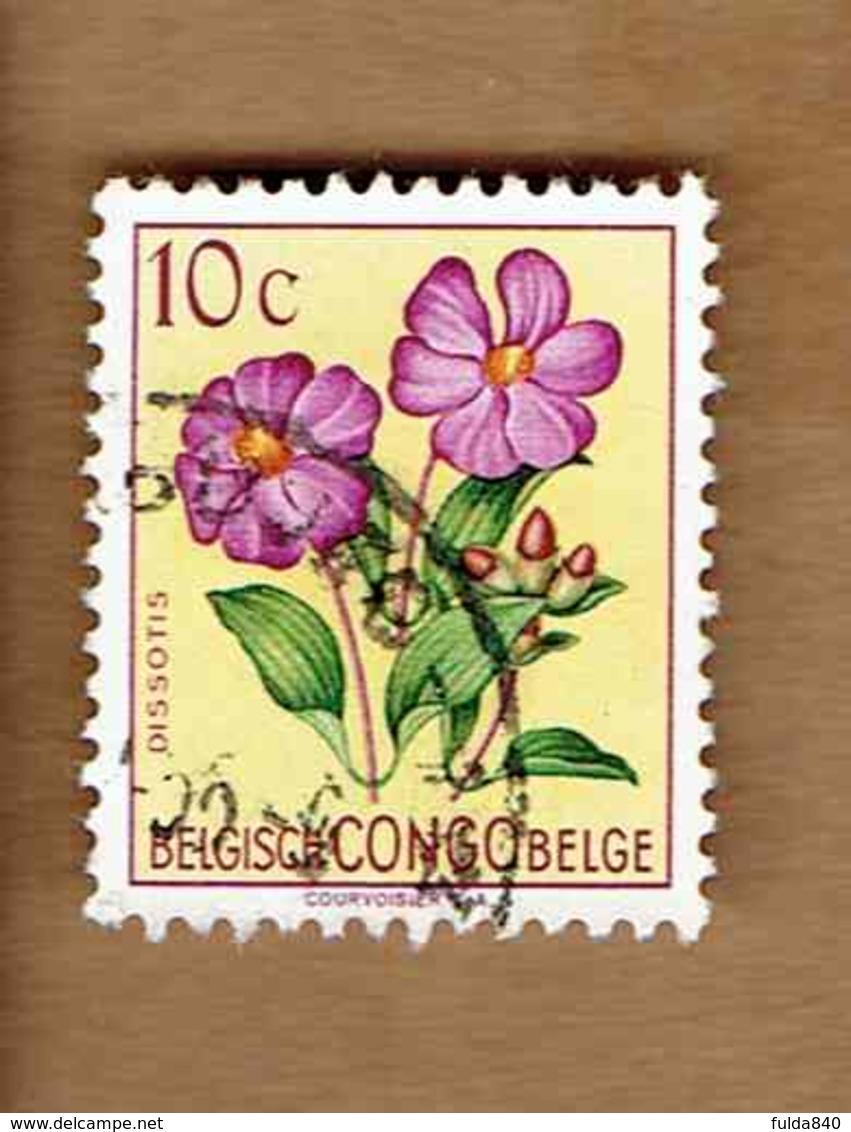 Congo Belge.(COB-OBP)  1952 - N°302    *FLEURS DU CONGO*    10c   Oblitéré - Congo Belge