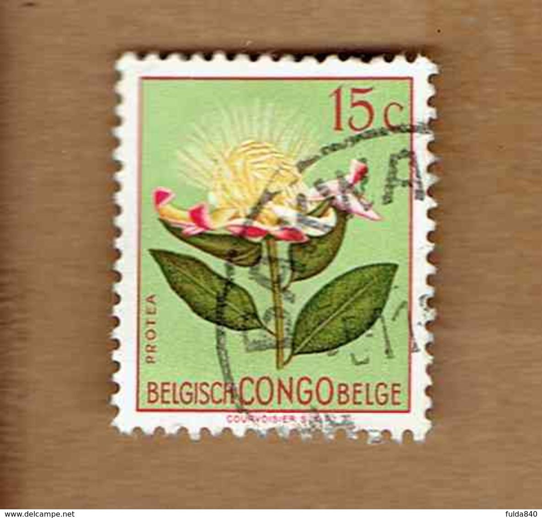 Congo Belge.(COB-OBP)  1952 - N°303    *FLEURS DU CONGO*    15c   Oblitéré BAKWANGA - Congo Belge