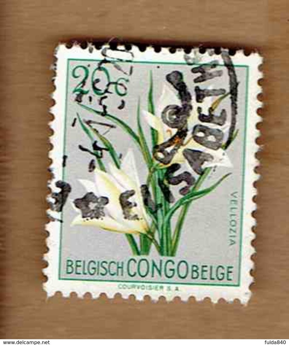 Congo Belge.(COB-OBP)  1952 - N°304    *FLEURS DU CONGO*    20c   Oblitéré ELISABETHVILLE - Congo Belge