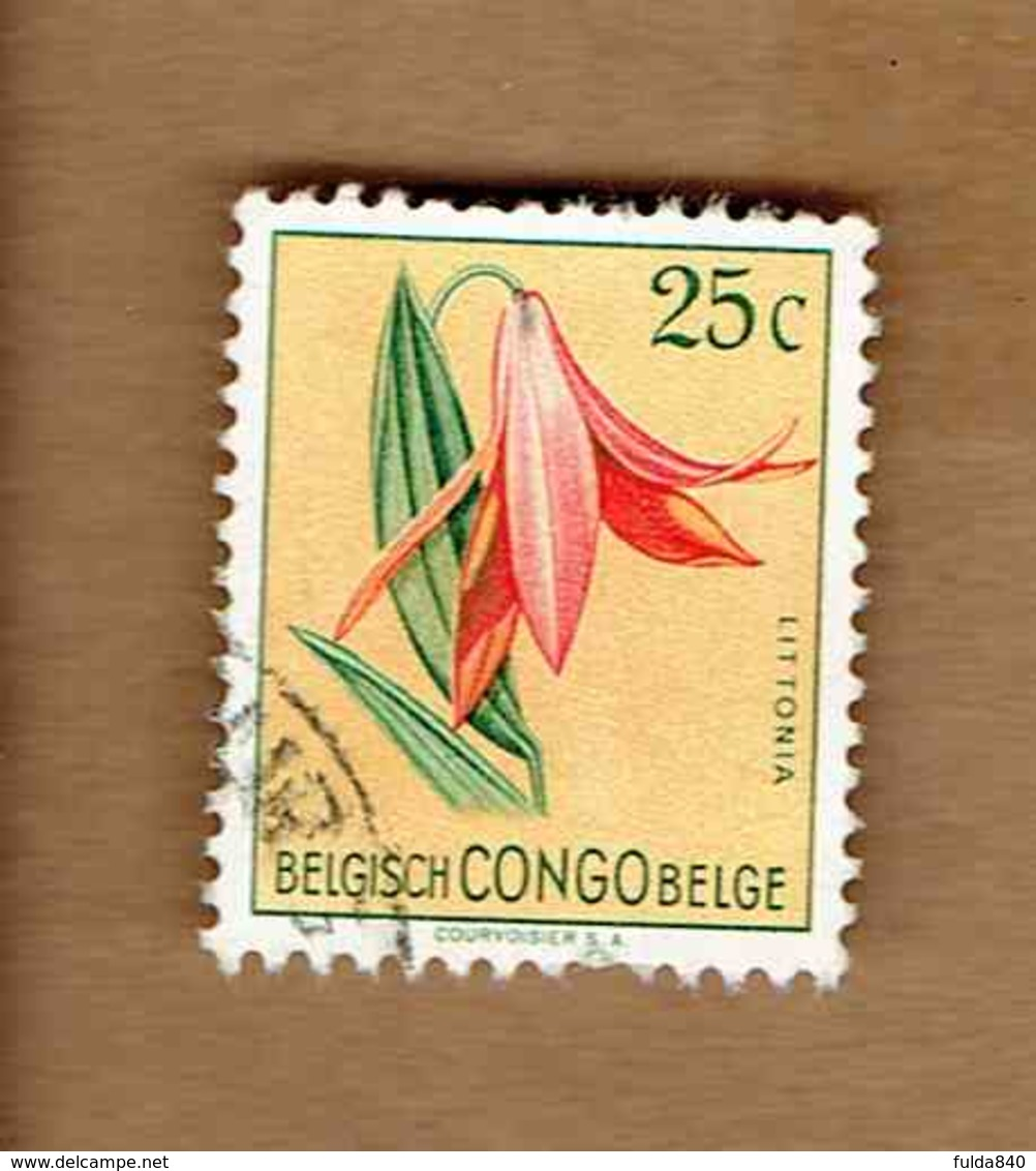 Congo Belge.(COB-OBP)  1952 - N°305    *FLEURS DU CONGO*    25c   Oblitéré - Congo Belge