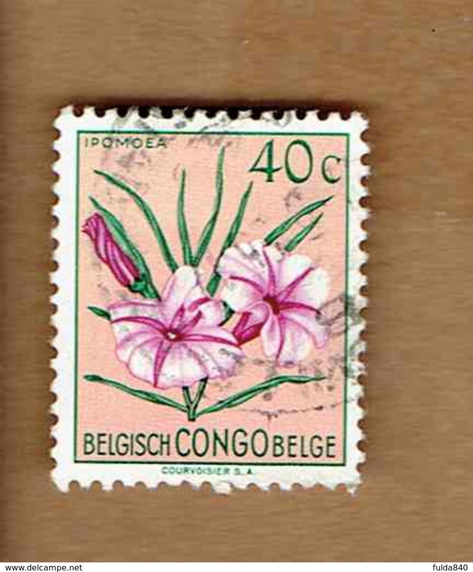 Congo Belge.(COB-OBP)  1952 - N°306    *FLEURS DU CONGO*    40c   Oblitéré - Congo Belge