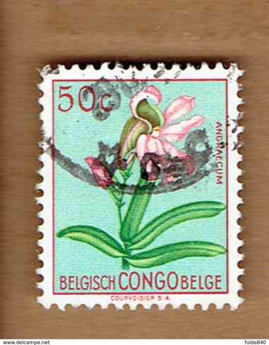 Congo Belge.(COB-OBP)  1952 - N°307    *FLEURS DU CONGO*    50c   Oblitéré - Congo Belge