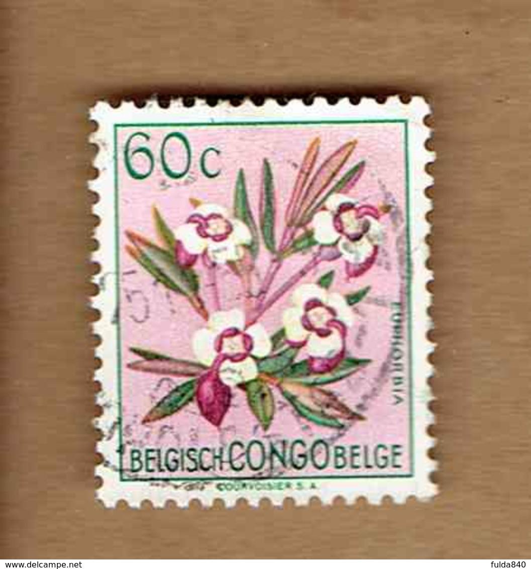 Congo Belge.(COB-OBP)  1952 - N°308    *FLEURS DU CONGO*    60c   Oblitéré - Congo Belge