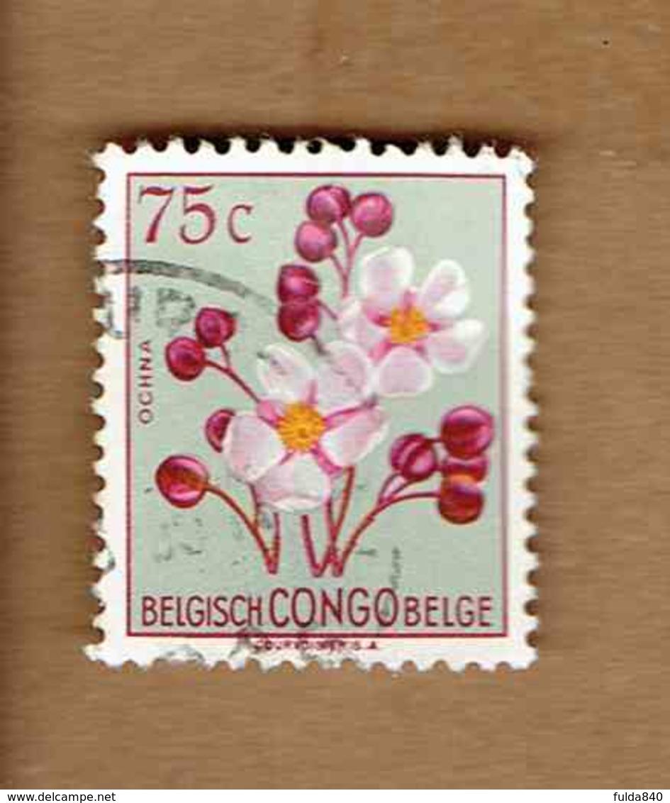 Congo Belge.(COB-OBP)  1952 - N°309    *FLEURS DU CONGO*    75c   Oblitéré - Congo Belge
